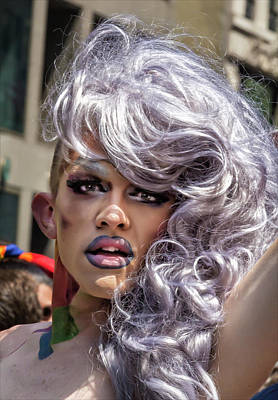 Gay Pride Parade Nyc 2016 Drag Queen Poster by Robert Ullmann