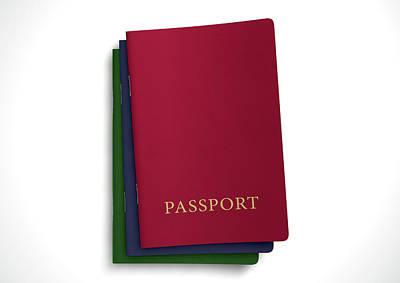 Generic Passport Stack  Poster by Allan Swart