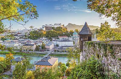 Golden Salzburg Poster by JR Photography
