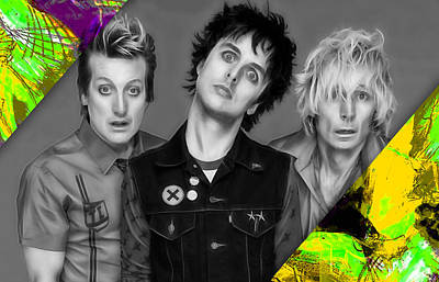 Green Day Collection Poster by Marvin Blaine