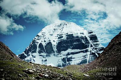 Holy Kailas North Slop Himalayas Tibet Yantra.lv Poster by Raimond Klavins