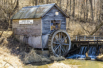 Hydes Mill - Ridgeway - Wisconsin Poster by Steven Ralser