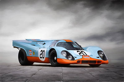 I Am Legend Porsche 917 Poster by Peter Chilelli