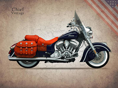 Indian Chief Vintage Poster by Mark Rogan