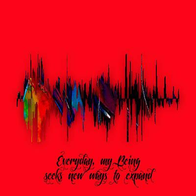 Inspirational Soundwave Message Poster by Marvin Blaine