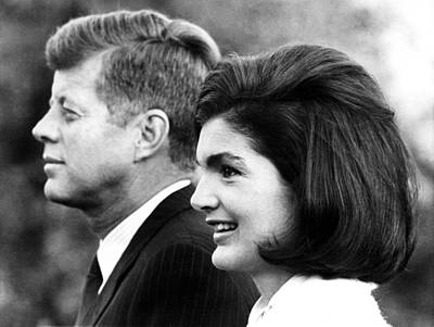 John F. Kennedy And Jacqueline Kennedy Poster by Everett