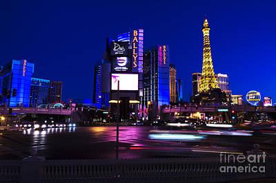 Las Vegas Blues Poster by John Rizzuto