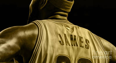 Lebron James Collection Poster by Marvin Blaine