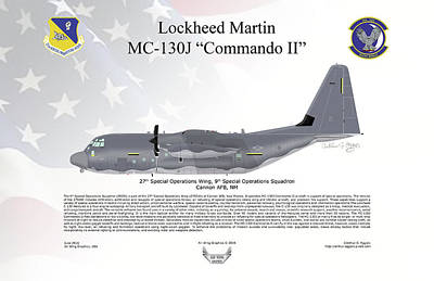 Lockheed Mc-130j Commando II Poster by Arthur Eggers