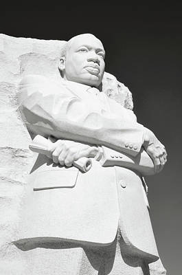 Martin Luther King Statue Monument In Washington Dc Poster by Brandon Bourdages