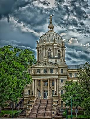 Mc Lennan County Courthouse - Waco Texas Poster by Mountain Dreams