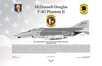 Mcdonnell Douglas F-4g Phantom II Wild Weasel Poster by Arthur Eggers