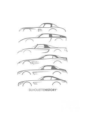 Mercy Sports Car Silhouettehistory Poster by Gabor Vida