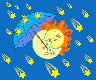 Meteor Shower II Poster by J L Meadows