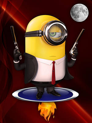 Minions Collection Poster by Marvin Blaine