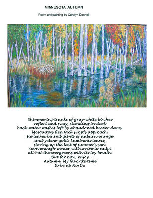 Minnesota Autumn Poster by Carolyn Donnell