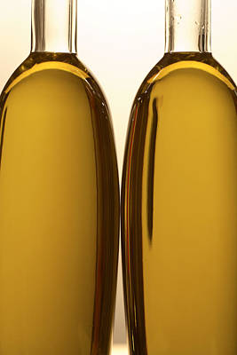 2 Olive Oil Bottles Poster by Frank Tschakert