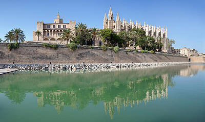 Palma Cathedral La Seu And Almudaina Poster by Panoramic Images