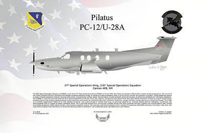 Pilatus Pc-12 U-28a Poster by Arthur Eggers
