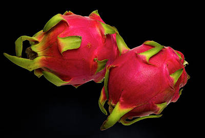 Pink Dragon Fruit  Poster by David French