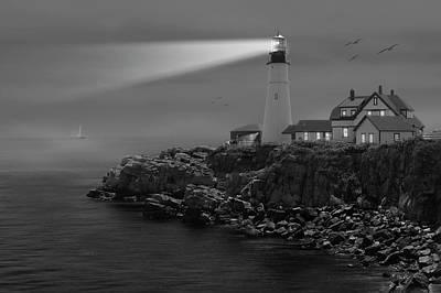 Portland Head Lighthouse Poster by Mike McGlothlen