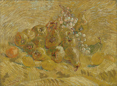 Quinces, Lemons, Pears And Grapes  Poster by Vincent van Gogh