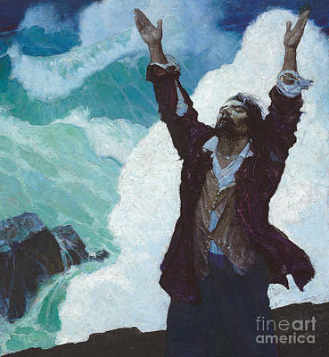 Robinson Crusoe Poster by Newell Convers Wyeth