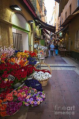 Rue Pairoliere In Nice Poster by Elena Elisseeva