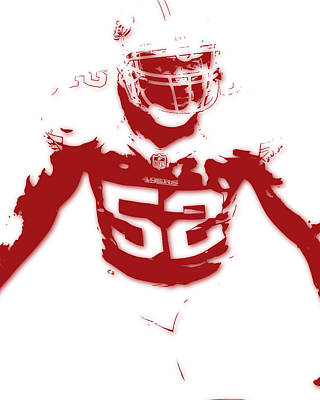 San Francisco 49ers Patrick Willis Poster by Joe Hamilton