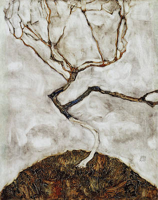 Small Tree In Late Autumn Poster by Egon Schiele