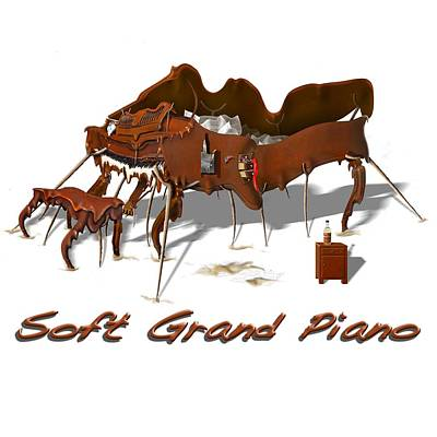 Soft Grand Piano  Poster by Mike McGlothlen