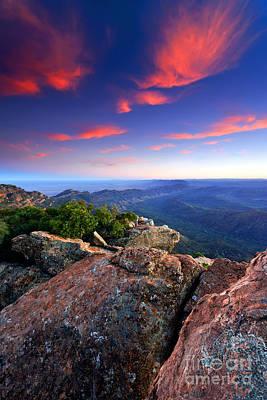 St Mary Peak Sunrise Poster by Bill  Robinson