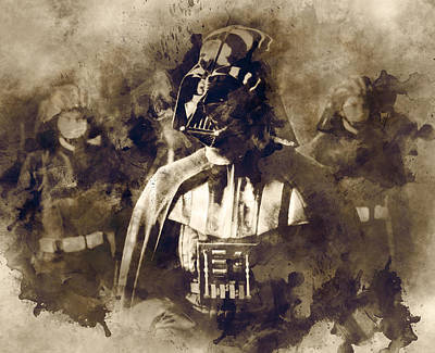 Star Wars.darth Vader. Poster by Elena Kosvincheva