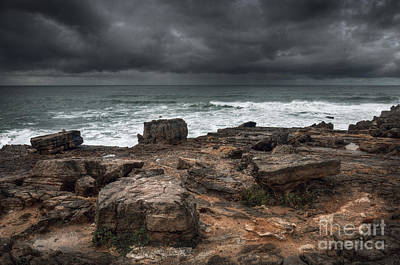 Stormy Seascape Poster by Carlos Caetano
