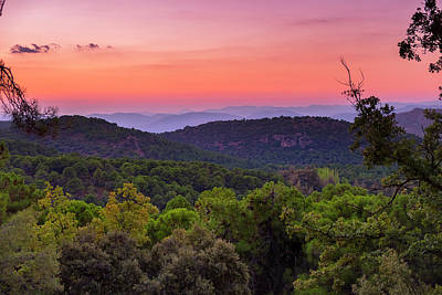 Sunset At The Mountains Poster by Guido Montanes Castillo