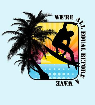 Surfboard Poster by Mark Ashkenazi