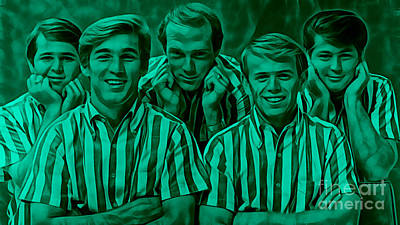 The Beach Boys Collection Poster by Marvin Blaine