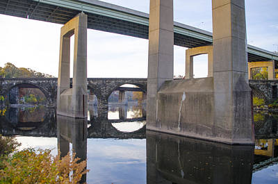 The Bridges At East Falls Poster by Bill Cannon