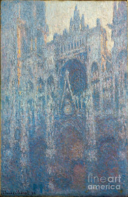 The Portal Of Rouen Cathedral In Morning Light Poster by Claude Monet