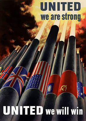 The United Nations Fight For Freedom Poster by War Is Hell Store