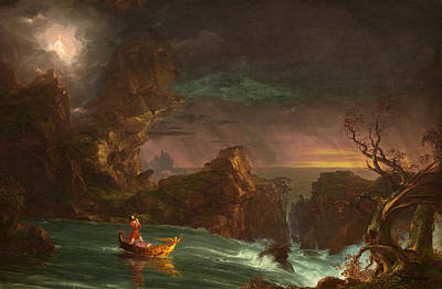 The Voyage Of Life, Manhood Poster by Thomas Cole