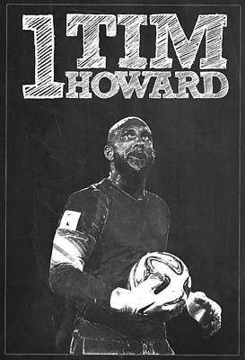 Tim Howard Poster by Semih Yurdabak