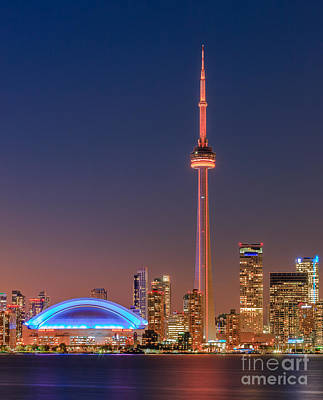 Toronto Skyline After Sunset Poster by Henk Meijer Photography