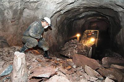 Uranium Mining Poster by Ria Novosti