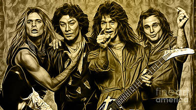 Van Halen Collection Poster by Marvin Blaine