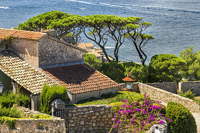 View From The Fortress Of Saint Tropez French Riviera Poster by Sandra Rugina
