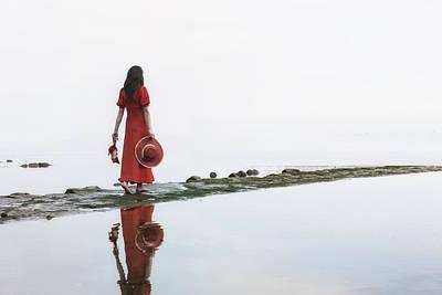Walking Into The Sea Poster by Joana Kruse