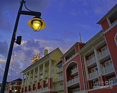 Walt Disney World - Boardwalk Villas  Poster by AK Photography