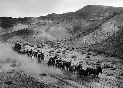 20 Mule Team Borax Hauling - Death Valley C. 1899 Poster by Daniel Hagerman
