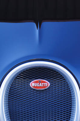 2008 Bugatti Veyron Hood Ornament Poster by Jill Reger